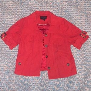 Red short sleeved jacket